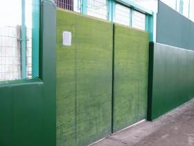 ラバーフェンスへの塗装。